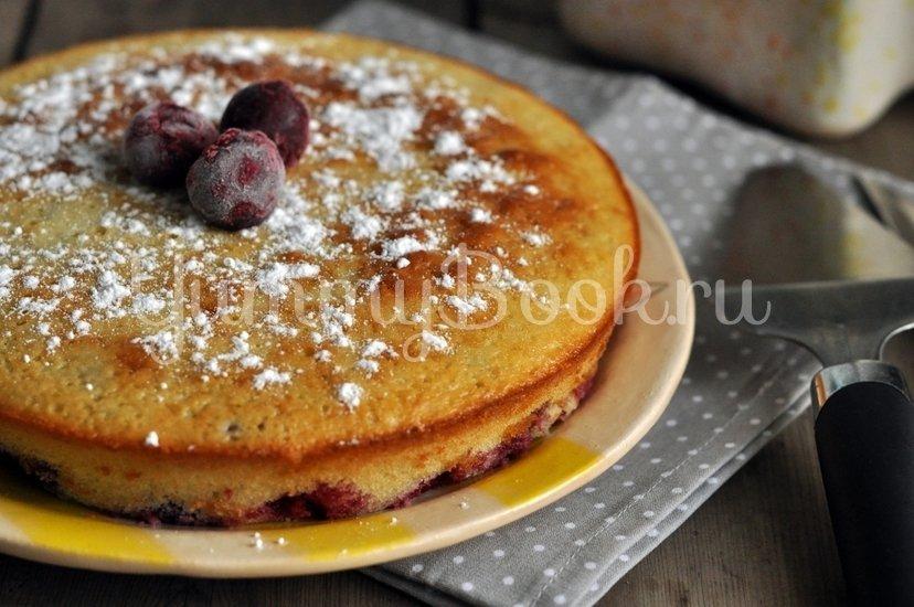 Вишневый пирог на кефире - шаг 7