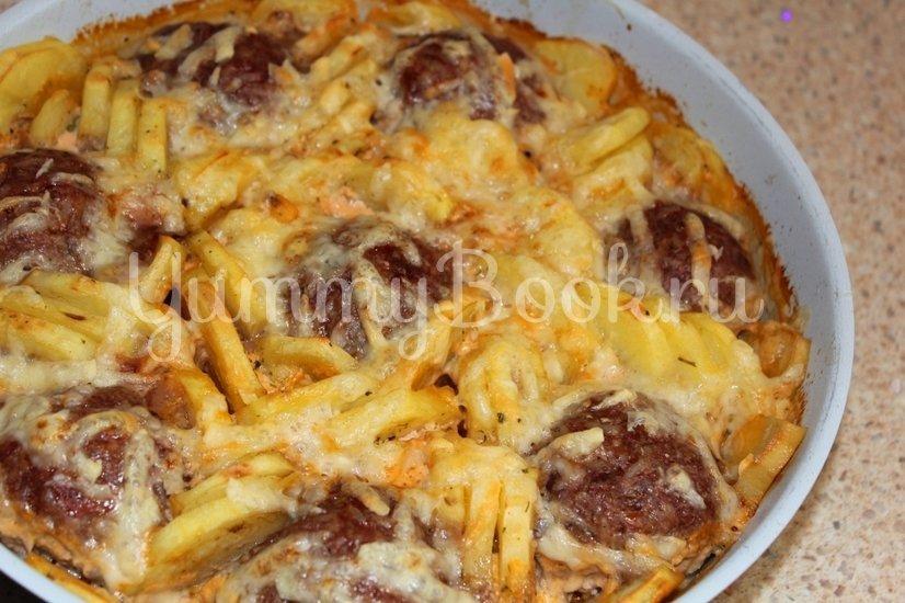Тефтели запеченные с картофелем - шаг 3