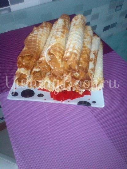 Вафельные трубочки с кремом - шаг 2