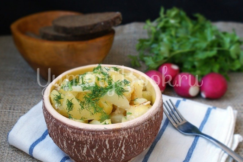 Картофель в домашнем йогурте в мультиварке