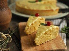 Влажный лимонный пирог