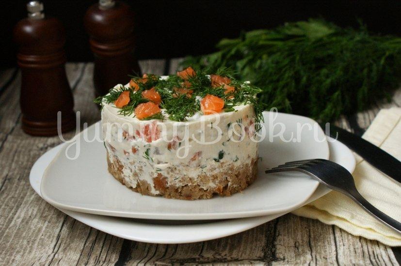 Закусочный торт с солёной форелью - шаг 9