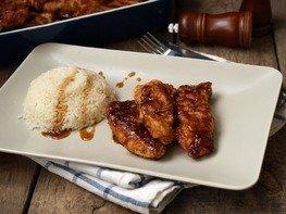 Куриное филе запечённое с соусом терияки