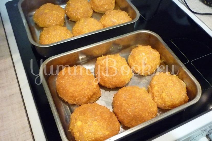Полезные тыквенно-куриные котлетки - шаг 6