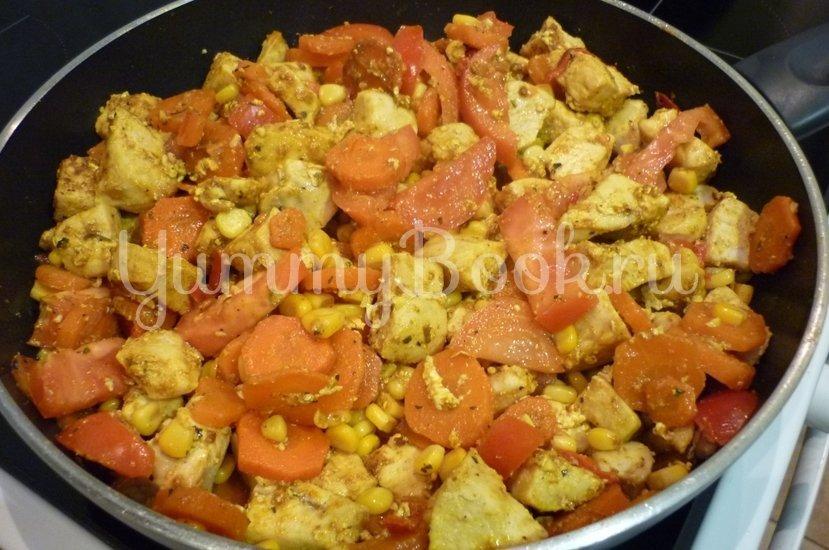 Куриное филе с овощами в сметанном соусе - шаг 14