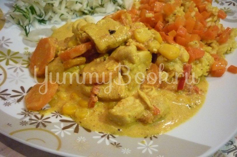 Куриное филе с овощами в сметанном соусе - шаг 18