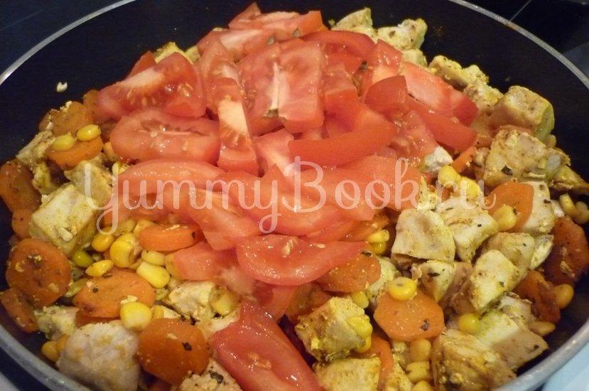 Куриное филе с овощами в сметанном соусе - шаг 13