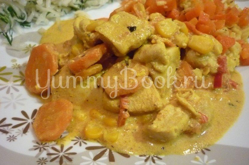 Куриное филе с овощами в сметанном соусе - шаг 19