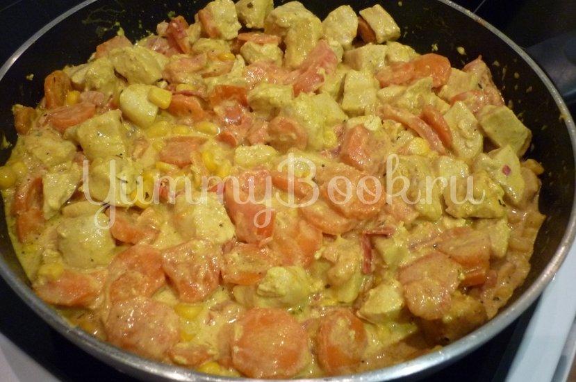 Куриное филе с овощами в сметанном соусе - шаг 16