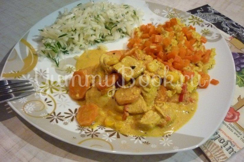 Куриное филе с овощами в сметанном соусе - шаг 17