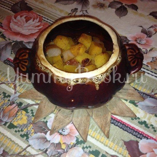 Тыква с яблоками в горшочках - шаг 6