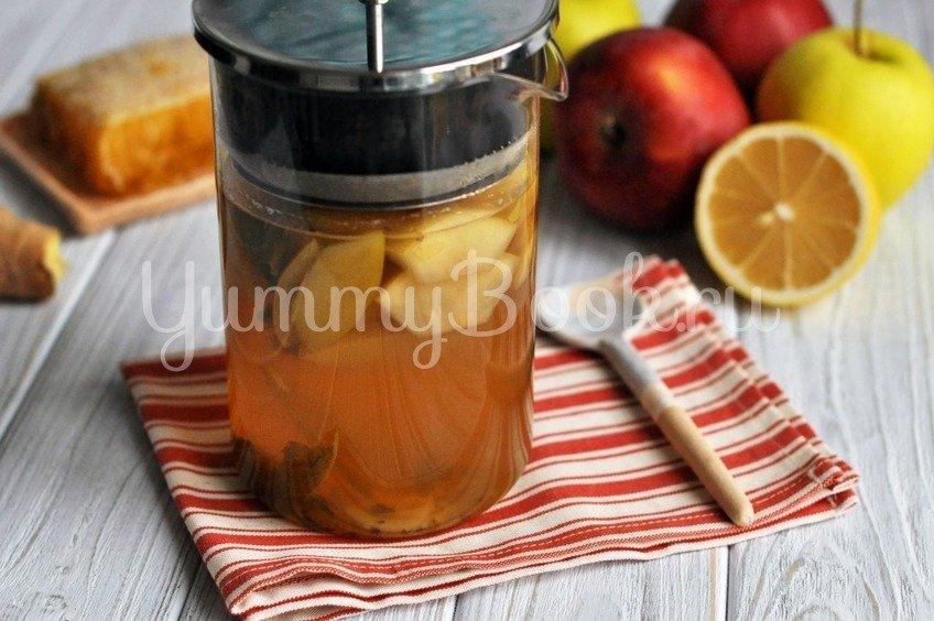Имбирный чай с яблоками и мятой