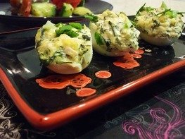 Фаршированные яйца (закуска к праздничному столу)