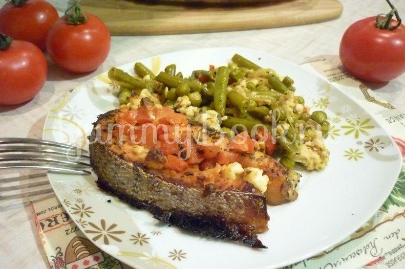 Запечённая сёмга с брынзой и помидорами - шаг 10