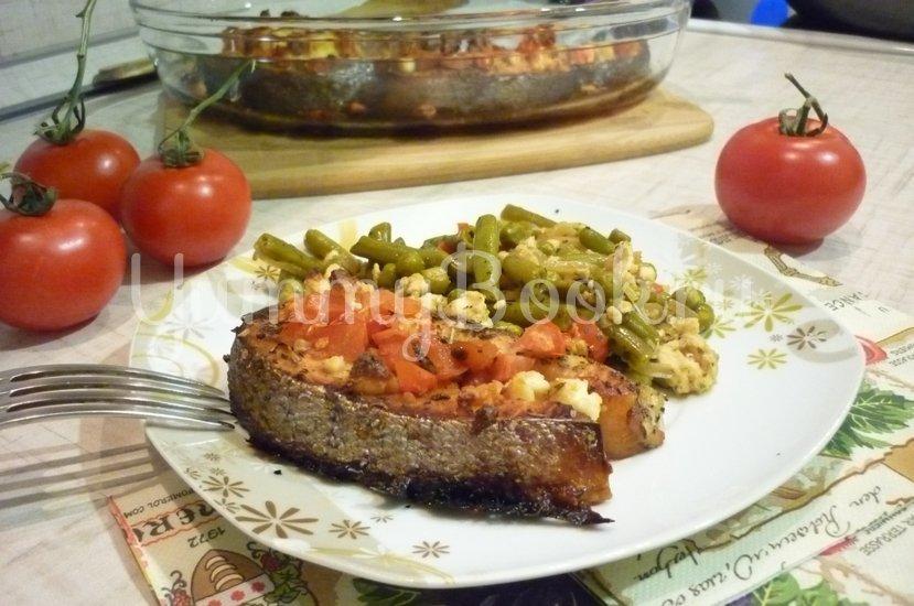 Запечённая сёмга с брынзой и помидорами - шаг 9
