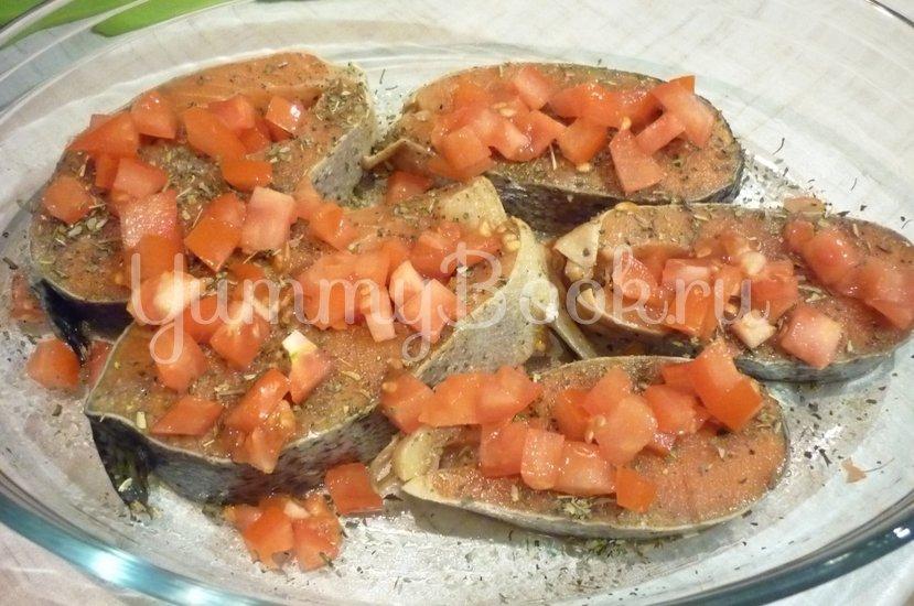 Запечённая сёмга с брынзой и помидорами - шаг 5