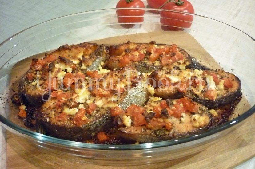 Запечённая сёмга с брынзой и помидорами - шаг 7