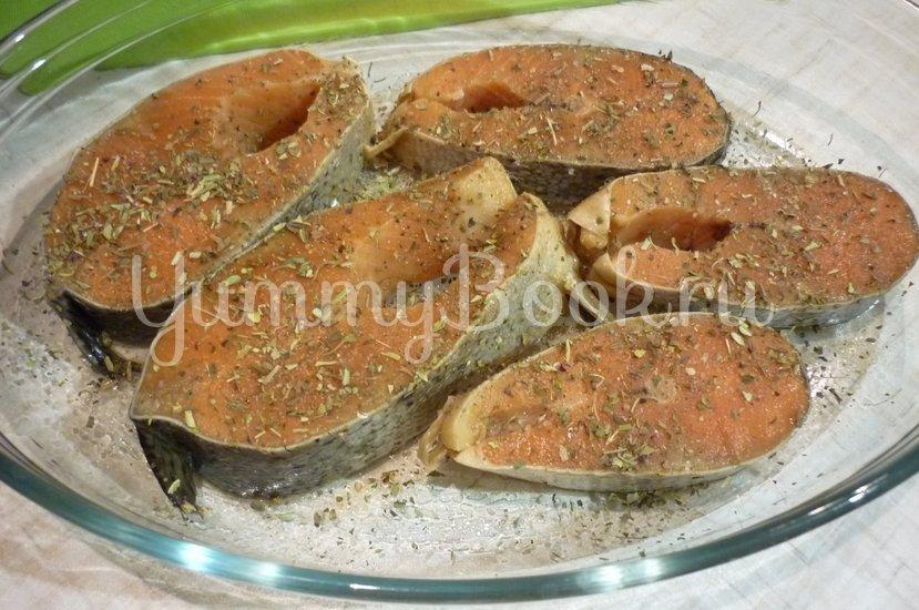 Запечённая сёмга с брынзой и помидорами - шаг 4