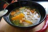 Яркий суп с тыквой и нутом