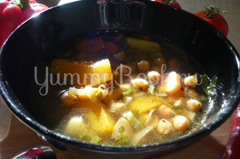 Яркий суп с тыквой и нутом - шаг 23