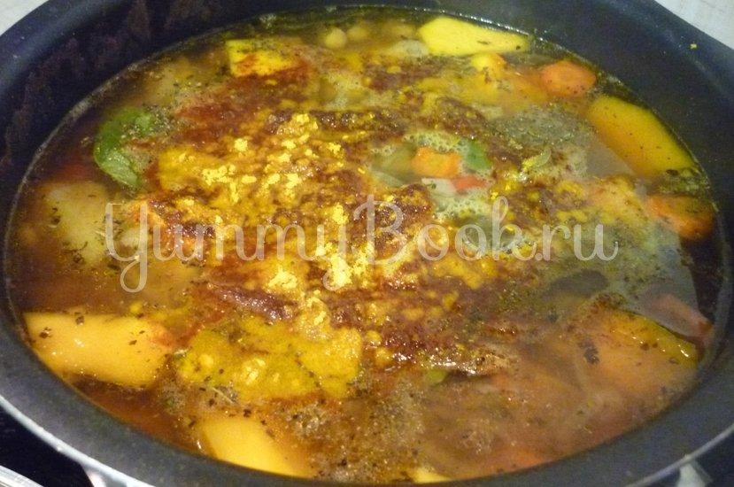 Яркий суп с тыквой и нутом - шаг 19
