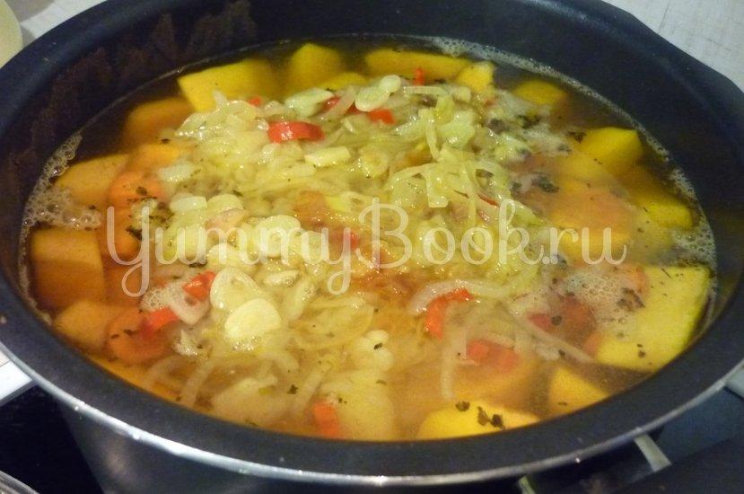 Яркий суп с тыквой и нутом - шаг 18