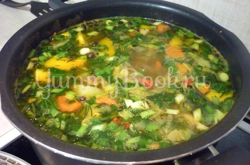 Яркий суп с тыквой и нутом - шаг 21