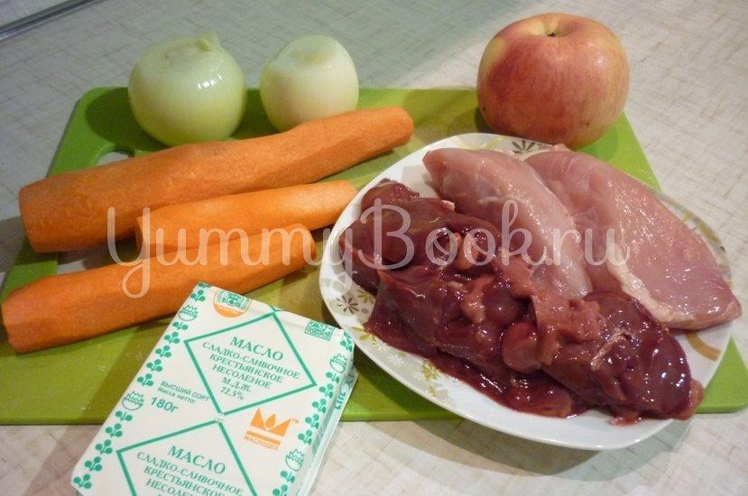 Куриный печёночно-мясной паштет - шаг 1