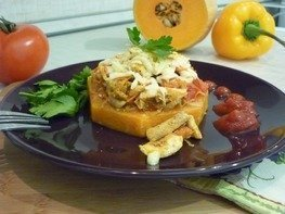Тыквенные кольца под курино-овощной шапкой
