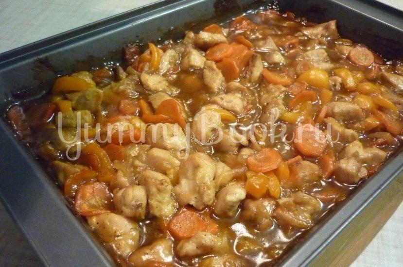 """Курица с овощами в соусе """"Терияки"""" - шаг 15"""