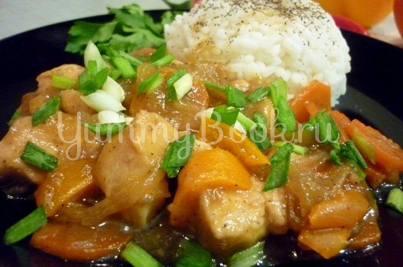 """Курица с овощами в соусе """"Терияки"""" - шаг 18"""