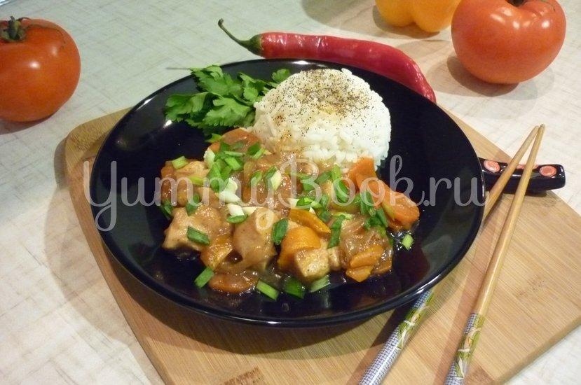 """Курица с овощами в соусе """"Терияки"""" - шаг 16"""