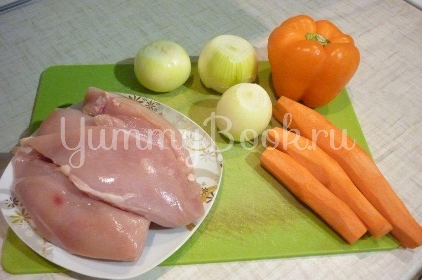 """Курица с овощами в соусе """"Терияки"""" - шаг 5"""