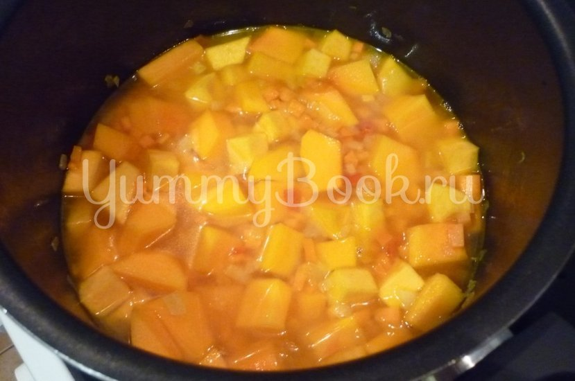 Пряный рис с тыквой и овощами - шаг 10