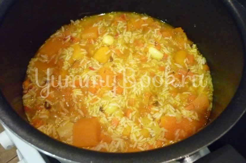 Пряный рис с тыквой и овощами - шаг 12