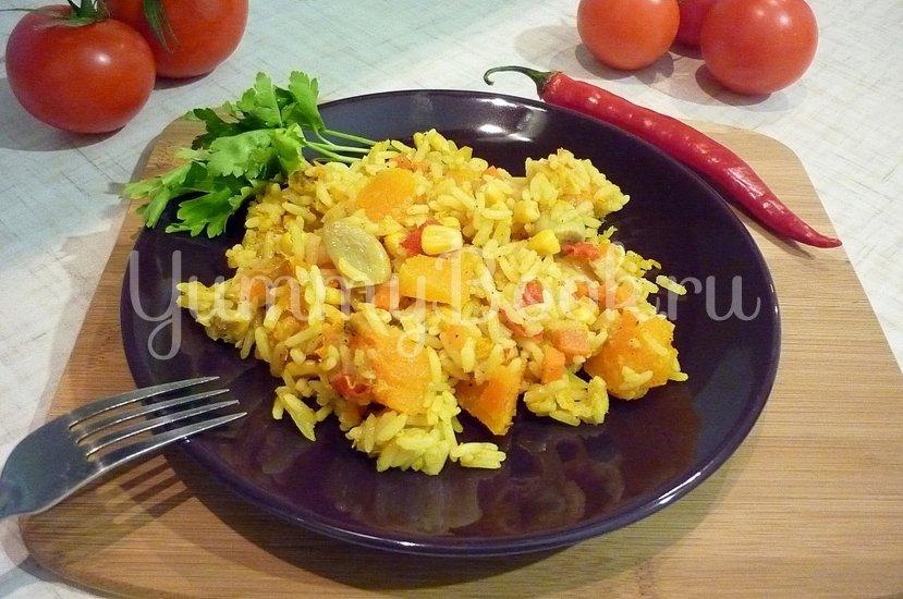 Пряный рис с тыквой и овощами - шаг 15