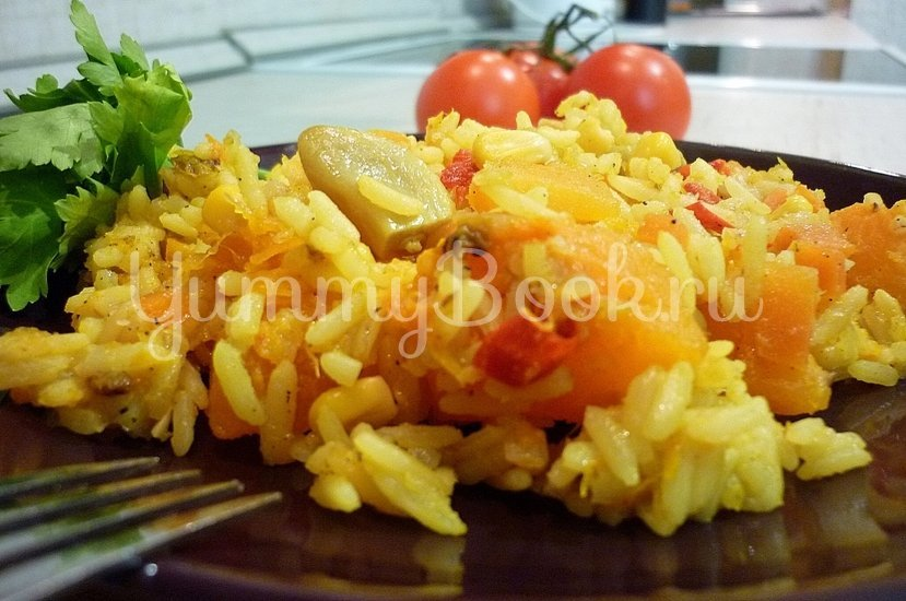 Пряный рис с тыквой и овощами - шаг 16