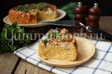 Сырный пирог с курицей в мультиварке - шаг 8
