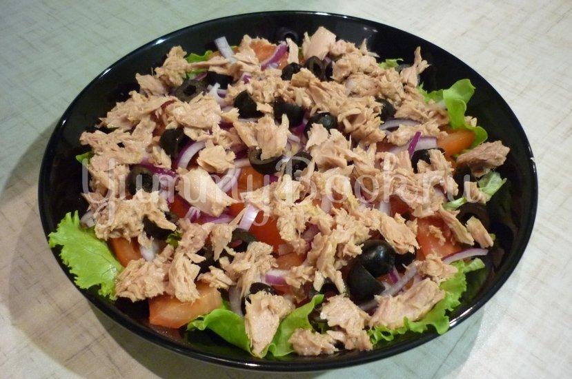 """Лёгкий салат с тунцом """"Искушение"""" - шаг 7"""