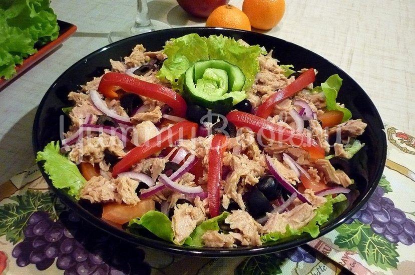 """Лёгкий салат с тунцом """"Искушение"""" - шаг 8"""