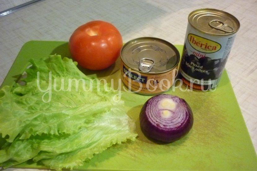 """Лёгкий салат с тунцом """"Искушение"""" - шаг 1"""