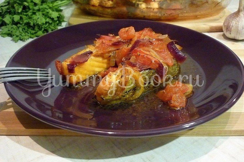 Сёмга, запечённая под пикантным соусом