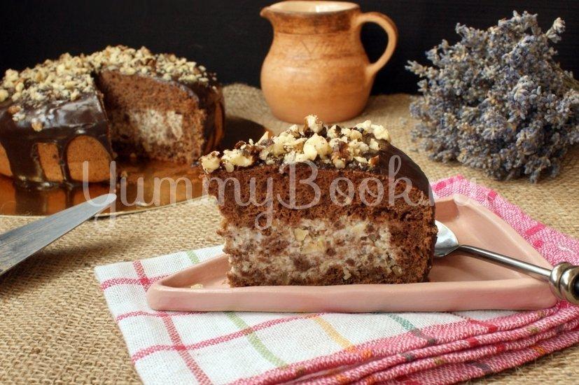 Шоколадный торт с орехами в мультиварке - шаг 13