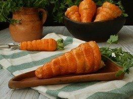 """Слоёные трубочки """"Морковка"""""""