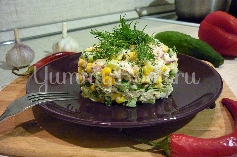 Лёгкий салат с тунцом и овощами - шаг 9