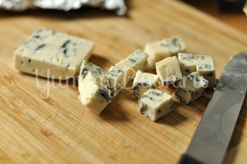 Зеленый салат с сыром - шаг 3