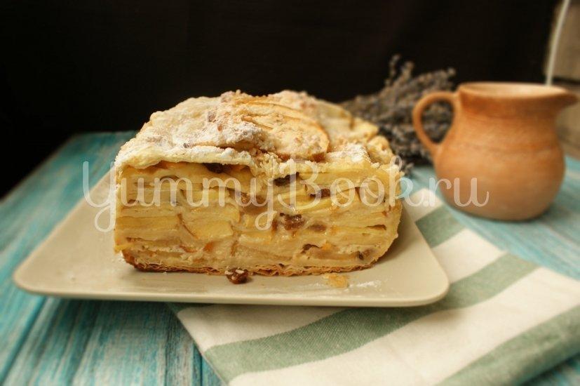 Яблочный пирог из слоёного теста - шаг 8
