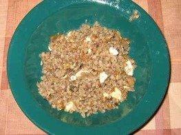 Каша гречневая с белыми грибами