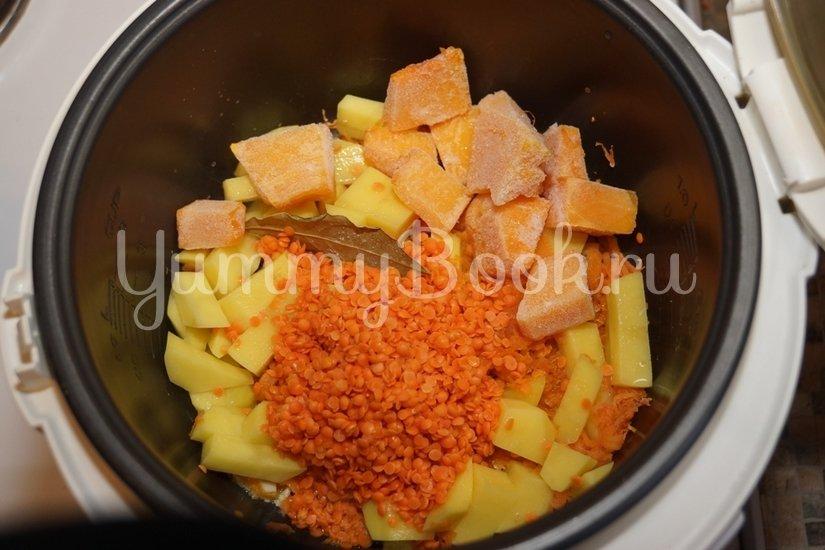Тыквенно-чечевичный суп-пюре в мультиварке - шаг 2