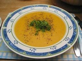Суп тыквенный на бульонном кубике
